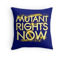 Mutant Rights Now Throw Pillow