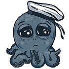 octopus tentacles ocean sea sailor blue baby cartoon  by RISHAMA