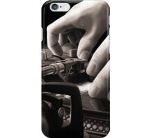 Scratch, Turntable Oil Painting iPhone Case/Skin