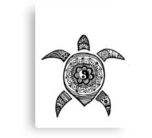 Hippie Sea Turtle Canvas Print