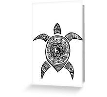 Hippie Sea Turtle Greeting Card