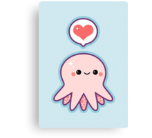 Cute Baby Octopus Canvas Print