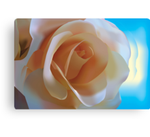 Simple Rose - Vector Illustration Canvas Print