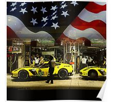 Corvette Racing C7R - American Flag Poster