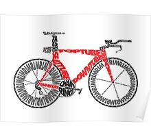 Anatomy of a Time Trial Bike Poster
