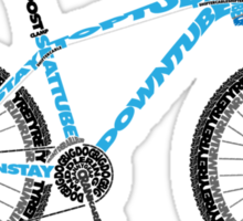Typographical Anatomy of a Mountain Bike Sticker