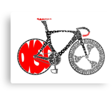 Typographic Anatomy of a Track Bike Metal Print