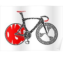 Typographic Anatomy of a Track Bike Poster