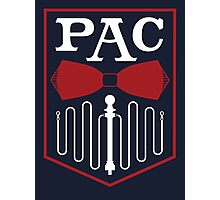 PAC Logo - Red and White Photographic Print