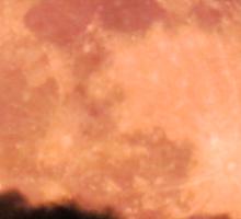 Red moon, black cloud Sticker