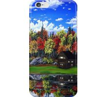 cabin in the mirror iPhone Case/Skin