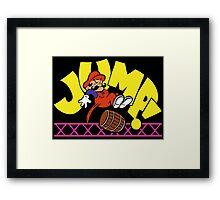JumpMan! Framed Print