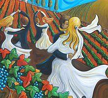 Wedding dance in the vines by peterart
