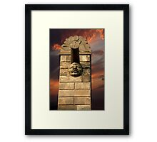 Stormy Night Waterspout Framed Print