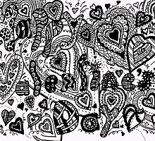 Happy Valentine's Day  Aussie Tangle - Choose Your Background Colour - See Description by Heatherian