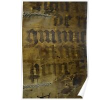 Medieval Book Cover Poster