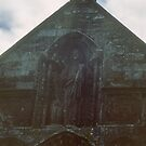 East end arches in wall of church Lanercost Priory Cumbria England 198405260024 by Fred Mitchell