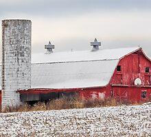 Snowy Barn by Kenneth Keifer