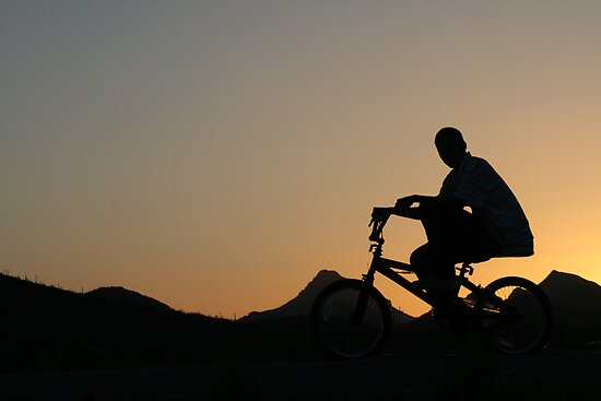 Cycler silhouette by RichImage