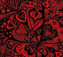 Hearts in a Square Aussie Tangle by Heather Holland by Heatherian