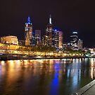 Melbourne at night by Ajmdc