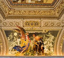 ceiling of Vatican Museum, Italy by chord0