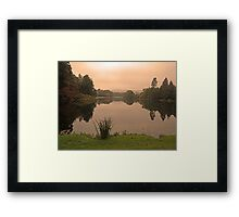 Peach Sky at Great Witley Framed Print