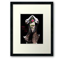 Kissing Birds With Rose (Valentines) Framed Print