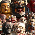 Nepalese Masks by kateabell
