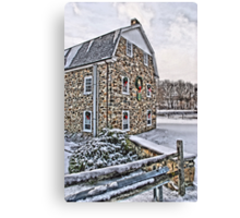 First Snow at the Mill Canvas Print