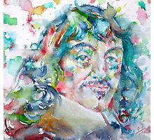 DESCARTES -watercolor portrait Photographic Print