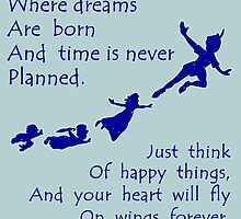 Peter Pan Quote - Disney Neverland by peetamark