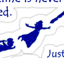Peter Pan Quote - Disney Neverland Sticker