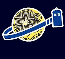 Tardis Space Company - Funnt Doctor Who Nerdy Addicted by peetamark