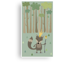 The King of the Wood Canvas Print