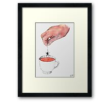 Spider Tea Framed Print