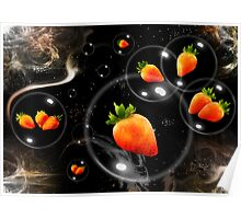 space strawberries  Poster