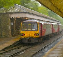 Passanger Train at Hebden Bridge by Glen Allen