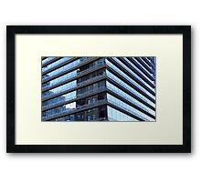 Lying On Top Of A Building, The Clouds Looked No Nearer Than When I Was Lying On The Street Framed Print