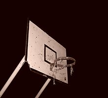 beaten up bball hoop by Nenad  Njegovan