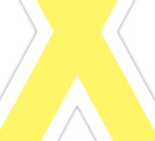 Sarcoma/ Bone Cancer Awareness ribbon Sticker