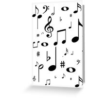 Music note black Greeting Card