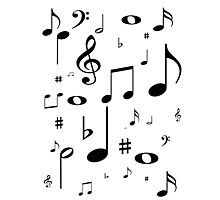 Music note black Photographic Print