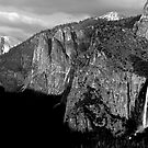 Bridalveil Fall &amp; Half Dome by Benjamin Padgett
