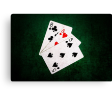 Blackjack 21 point - Eight, Eight, Five Canvas Print