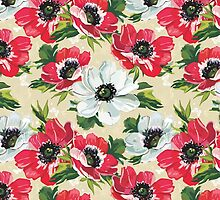 Watercolor Modern Floral Pattern by sale