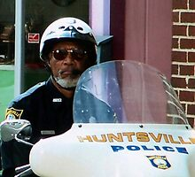 Morgan Freeman on the set of Evan Almighty (Color) by Tara Johnson