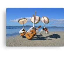 Pelican Mariachi band Canvas Print
