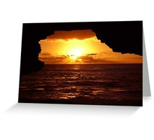 Cave Sunset. Greeting Card