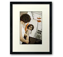 Portrait of a singer 01 Framed Print